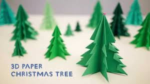 How To Make A Christmas Card Online - 3d paper christmas tree youtube