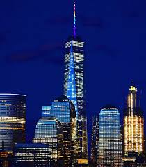 world trade center lights tonight change the color of one world trade center s spire from