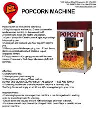 rent a popcorn machine popcorn machine rental the party bazaar
