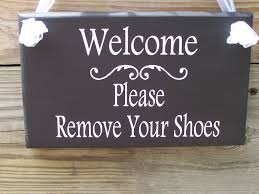Family Wood Sign Home Decor Welcome Please Remove Your Shoes Wood Vinyl Sign Wooden Sign
