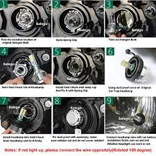 how to install led lights in car headlights safego h7 led headlight bulbs for cars cob chip 72w bulbs led car