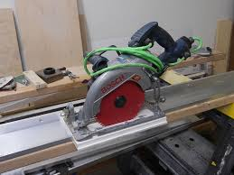 use circular saw as table saw how to make aluminum guide rail for your circular saw направляющая