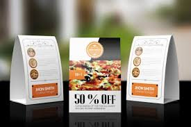 Table Tents Template 18 Restaurant Banners Free Psd Ai Vector Eps Format Download