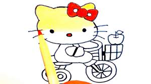 draw kitty coloring book kids teach drawing
