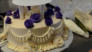 how to design a two tier wedding cake with open pillars youtube