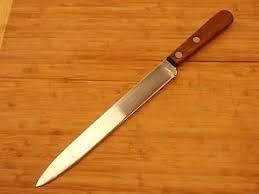 vintage ka bar carbon chrome kitchen 8 5 inch slicer fillet knife