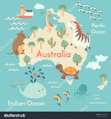 aussie map animals world map australia for children new utlr me