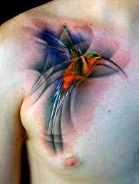 chest hummingbird tattoo design of tattoosdesign of tattoos