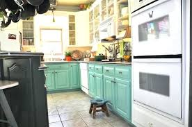 two tone painted cabinet image of two toned painted kitchen
