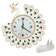 popular peacock bedroom set buy cheap peacock bedroom set lots 2017 fashion and creative peacock wrought iron set auger wall clock bedroom super mute wall clock