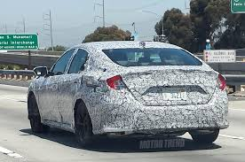 honda civic 2016 2016 honda civic sedan prototype caught testing in california