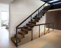 Small Staircase Ideas Impressive Black Small Stairs In Small Rooms On The Cream Floor