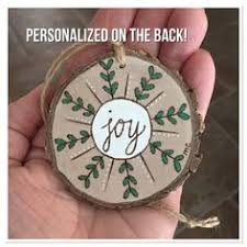 wood burned joy to the world or merry christmas ornament by