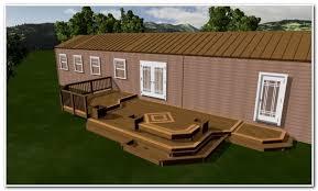 enclosed deck ideas for mobile homes decks home decorating