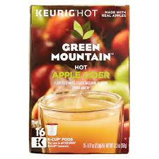 keurig green mountain apple cider fruit brew k cup pods