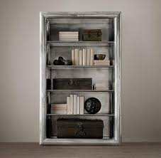 Silver Bookcase Silver Single Shelving