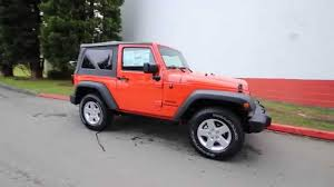 orange jeep rubicon 2015 jeep wrangler sport sunset orange fl595386 redmond