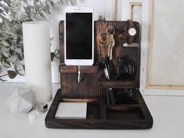 bedside dock stand holder charging station valet phone keys