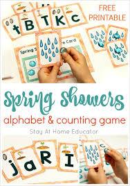 printable alphabet recognition games spring showers letter recognition game for preschoolers