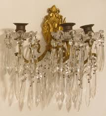 Crystal Candle Sconce Crystal Candle Sconces