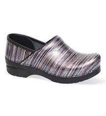 dansko s boots dansko s pro xp grey stripe patent leather clogs clogs