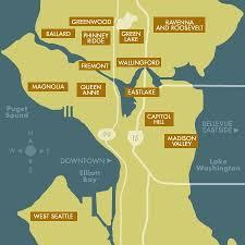 seattle map eastlake map of seattle neighborhoods seattle neighborhood map atlas with