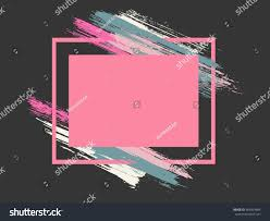 painted frame brush strokes background vector stock vector