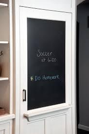 kitchen chalkboard message board door pantry ideas