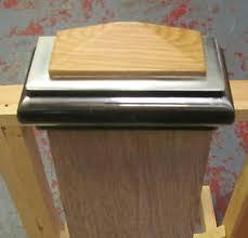 Interior Newel Post Caps Axxys Solo Brushed Nickel U0026 Oak Stair Newel Post Cap To Fit 90mm