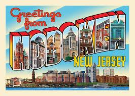 greetings from hoboken postcard