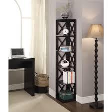 Redford White Corner Bookcase by Convenience Concepts Oxford 5 Tier Corner Bookcase Walmart Com
