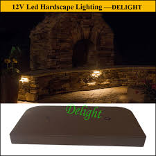 retaining wall lights under cap 12v led retaining wall light guangdong delight technology co ltd