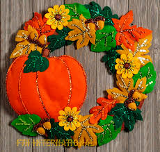 fall wreath bucilla felt home decor kit 86831 pumpkin acorns fall wreath bucilla felt home decor kit 86831 pumpkin acorns oak leaves
