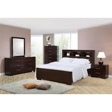 coaster furniture 200719kw jessica california king bookcase bed
