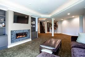 recessed lighting over fireplace basement tv built in basement traditional with recessed lighting