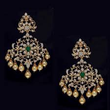 heavy diamond earrings view heavy earrings designs at sneha rateria