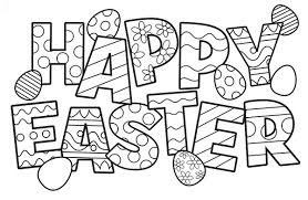 free easter coloring pages cute happy easter coloring pages