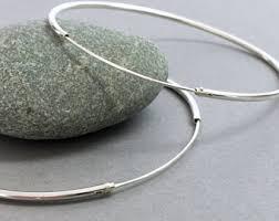 silver hoop earrings silver hoop earrings etsy