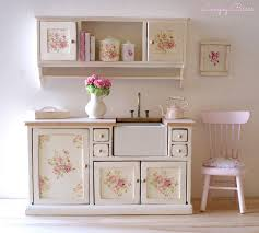 shabby chic kitchen furniture miniaturas shabby doll houses and miniatures