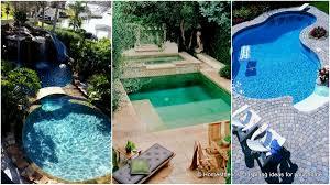 Pool Ideas For Small Backyards Backyard Pool Designs With U2013 Modern Garden