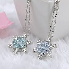silver crystal vintage necklace images Vintage crystal snowflake zircon flower silver necklaces jpg