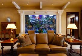 living room cool aquarium wall painting design for living room