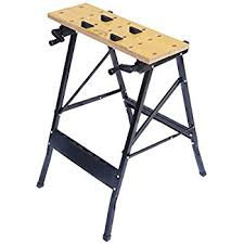 Second Hand Work Bench Amazon Com Keter Folding Compact Workbench Sawhorse Work Table