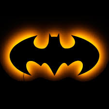 lighted batman logo wall art lighted wall art and symbolic night