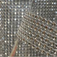 diamond rhinestone ribbon wrap roll silver bulk 10 yards best