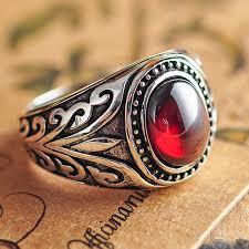 aliexpress buy mens rings black precious stones real popular 925 sterling silver mens rings with black stones buy cheap