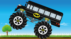 bus monster truck videos batman bus monster truck kids video youtube