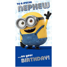 nephew minions birthday card minion shop