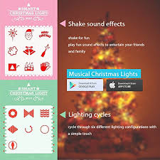 musical christmas lights airgoo led colored christmas tree lights smartphone with