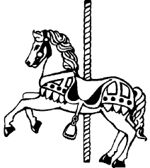 carousel horse picture colouring page happy colouring